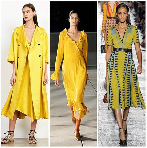 fast fashion желтый