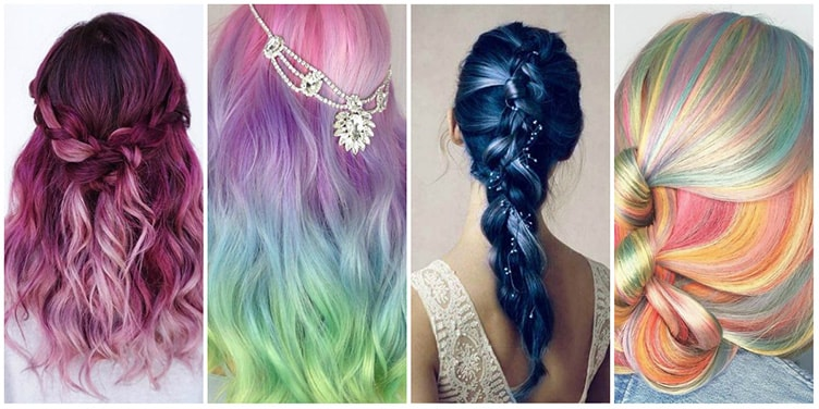 Цветная краска на волосах статья