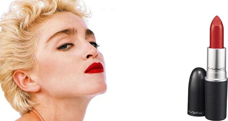 Мадонна красная помада мак