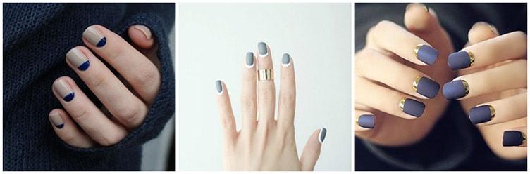 Обратный френч на ногтях