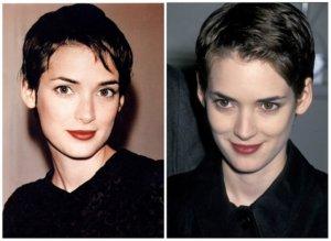 Вайнона Райдер прическа из 90-х