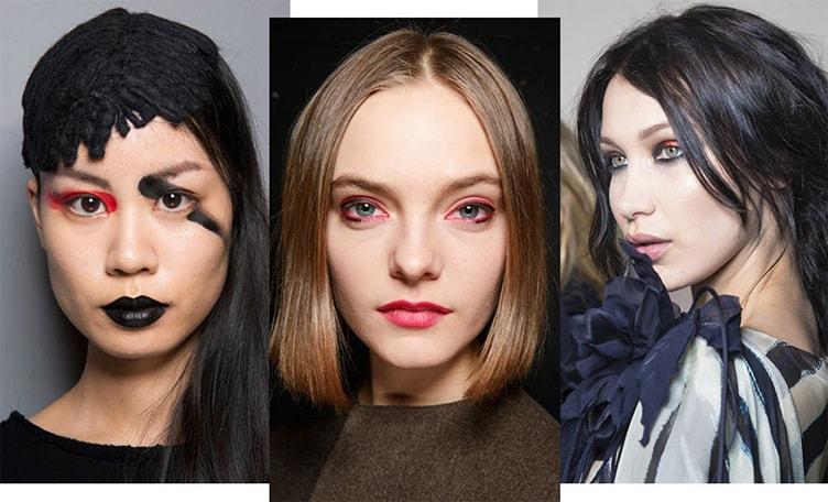 тренд в макияже красный и черный акцент