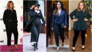 как носить брюки девушкам с формами