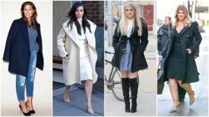 Пальто для девушек с формами