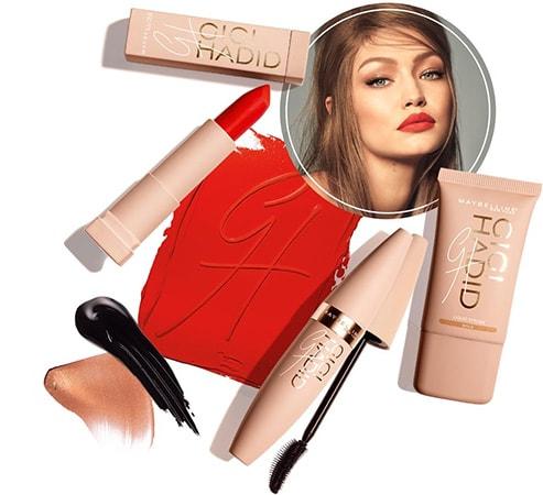 Как красит губу Джиджи Хадид