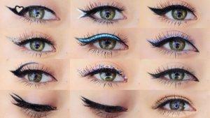Необычный макияж глаз