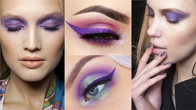 Фиолетовый цвет макияж