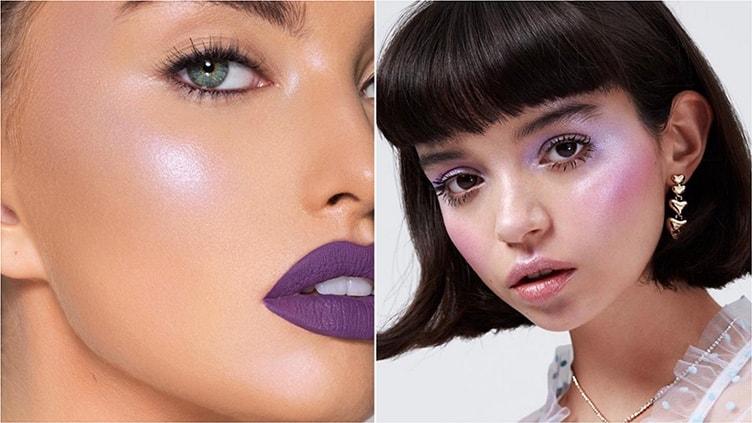 Тренд на фиолетовый в макияже