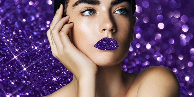 Фиолетовый цвет в макияже